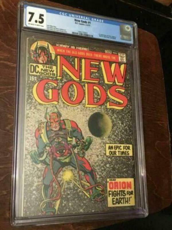 NEW GODS #1 CGC 7.5 OW PAGES MID GRADE BRONZE AGE KEY - KIRBY
