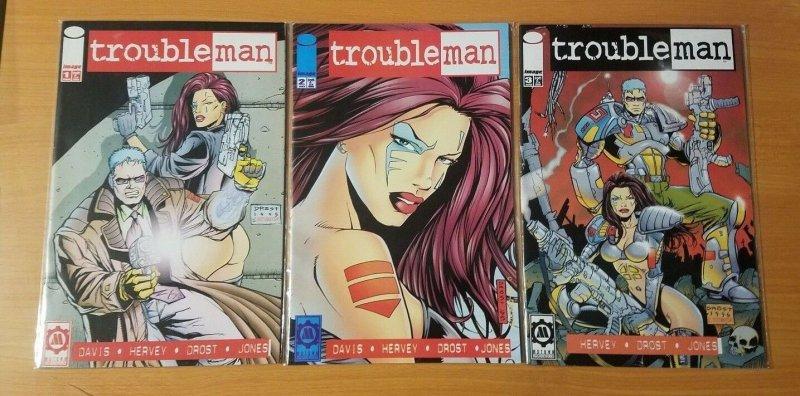 Trouble Man 1-3 Complete Set Run! ~ NEAR MINT NM ~ 1996 Image Comics