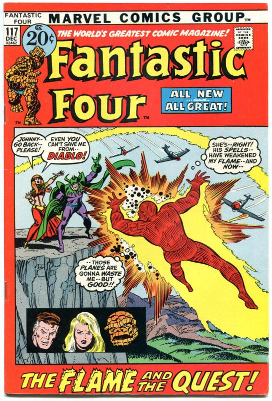 FANTASTIC FOUR #117, VF, InHumans, Diablo, Buscema, 1961, more FF in store, QXT