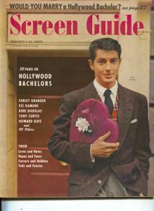 Screen Guide-Farley Granger-Vic Damone-Kirk Douglas-Feb-1951