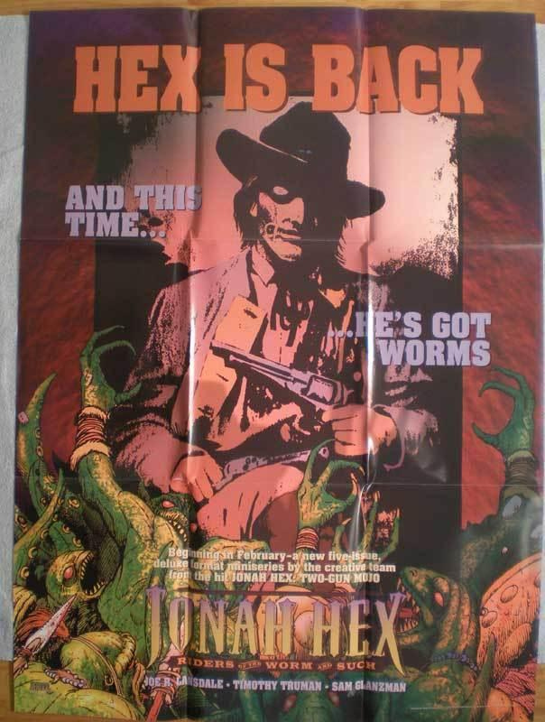JONAH HEX is BACK Promo poster, 28x38, 1995, Unused, more Promos in store
