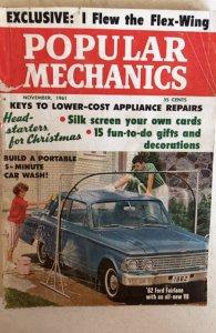 Popular mechanics November 1961 tear front cvr, B.cvr splitting