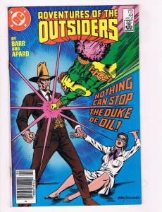 Adventures Of The Outsiders #44 FN DC Comics Comic Book Barr April 1987 DE34