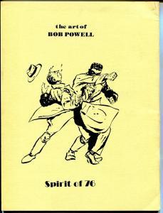 Art of Bob Powell 1978-Al Dellinger-index of Bob Powell comic book art-Shadow-VF