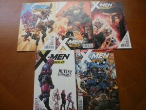 5 Near-Mint Marvel Comic: X-MEN GOLD #1 2 4 6 13 Guggenheim Syaf Leisten Martin