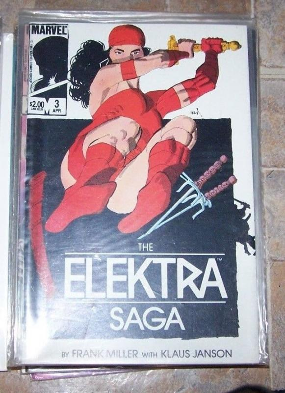 ELEKTRA SAGA COMIC # 3 OF 4 ISSUE MINI SERIES FRANK MILLER