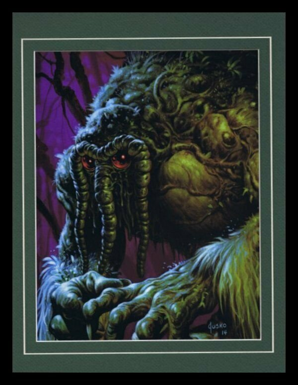 Man Thing Framed 11x14 Marvel Masterpieces Poster Display