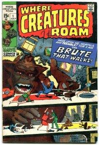 Where Creatures Roam #1 1970-Marvel-Jack Kirby-Horror reprints FN