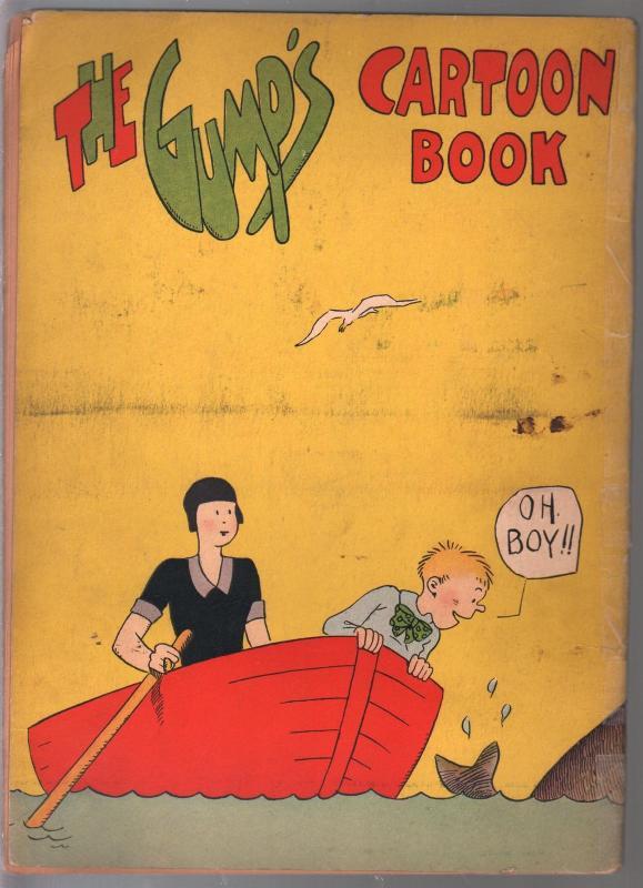 Gump's Cartoon Book 1931-B&W full page cartoons-Sidney Smith-rare-G/VG