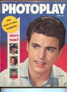Photoplay-Rick Nelson-Elvis Presley-Fabian-Dick Clark-June-1959