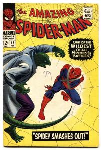 Amazing Spider-man #45-3rd Lizard-marvel comics Silver-age-FN/VF