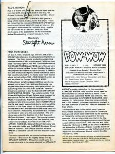Straight Arrow Pow-Wow Vol. #2 #7 1988- Western fanzine newsletter