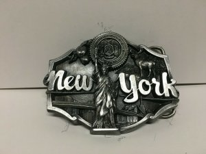 NEW YORK STATE Pewter Belt Buckle - Siskiyou 1987