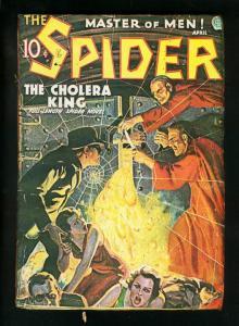 SPIDER APRIL 1936-CHOLERA KING-WILD PULP STORY-low grade reading copy FR