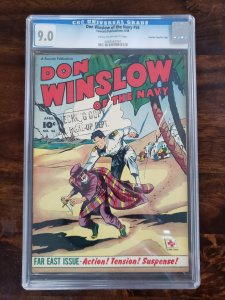 Don Winslow of the Navy 56 CGC 9.0 Crowley Pedigree/File copy old Pedigree label