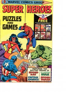 Super Heroes Puzzles & Games  G/VG  1979
