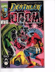 Marvel Comics Deathlok #3 Dwayne McDuffie NM Denys Cowan