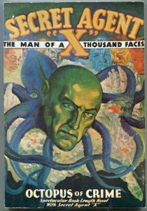 Secret Agent X September 1934- Pulp Reprint- Octopus of Crime