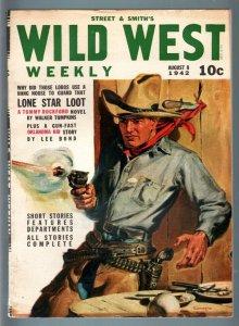 WILD WEST WEEKLY 8/1/1942-WESTERN PULP-OKLAHOMA KID VF