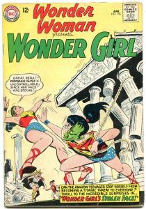WONDER WOMAN #153 1964-WONDER GIRL-DC SILVER AGE-VG VG