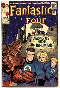 FANTASTIC FOUR #45 1965--FIRST INHUMANS-HOT ISSUE-SILVER-AGE!!