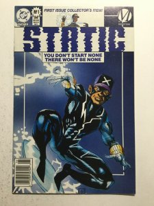 Static 1 Near Mint- Nm- 9.2 Newsstand Edition 1st First Static Variant Dc Comics