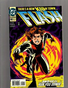 Flash # 92 NM 1st Print DC Comic Book 1st Bart Allen Appearance Impulse Kid SB5