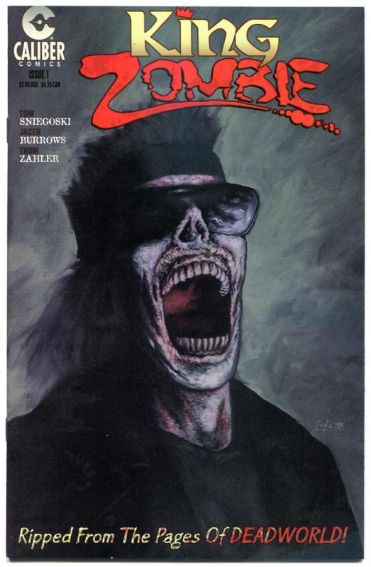 KING ZOMBIE #1, VF/NM, Caliber, DeadWorld, Burrows, 1998, more Horror in store