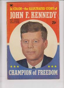 Illustrated Story of John F. Kennedy #1 FN- color comic - photo cover 1964 rare