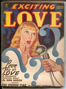 Exciting Love 9/1948-Thrilling-pulp romance-Ann Alden-Nita Nolan-VG