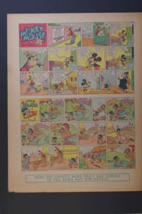 Micky Mouse, Goofy,Little Hiawatha Sunday February 8, 1942
