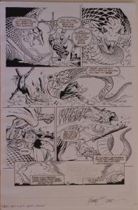 MICHAEL ZECK / DENNIS JANKE original art, ELIMINATOR #0 pg 4, 12x18, Mike, Snake