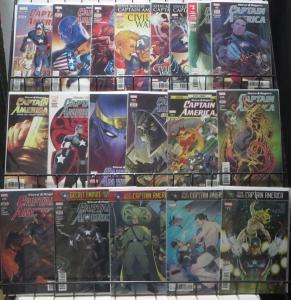 STEVE ROGERS CAPTAIN AMERICA (Marvel, 2016) #1-19 VG-F COMPLETE! Nick Spencer