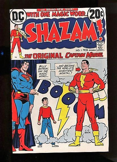 SHAZAM #1  (1972)  8.5  WHITE PAGES BRONZE AGE SUPER KEY MOVIE THIS YEAR
