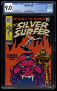 Silver Surfer #6 CGC VF/NM 9.0 Off White to White Marvel Comics