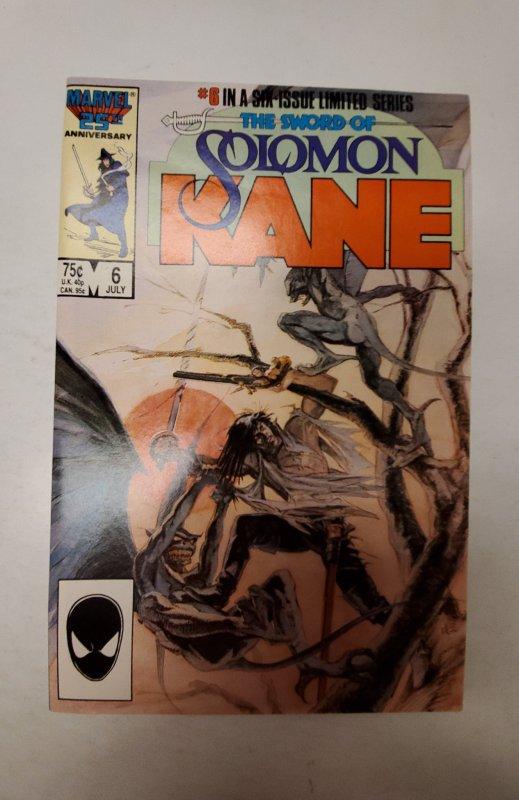 The Sword of Solomon Kane #6 (1986) NM Marvel Comic Book J667