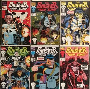 PUNISHER WAR ZONE (MARVEL)1,2,5,6,7,8 6 BOOK LOT ALL UNREAD NM CONDITION