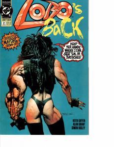 Lot Of 2 DC Comic Book Lobo's Back #2 and Detective Comics #641 AH12