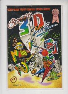 BIZARRE 3D ZONE #1 1985 BLACKTHORNE PUB. / NO GLASSES / UNREAD / NM