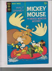 Walt Disney's Mickey Mouse #122 VF- august 1969 - moose monster mystery - goofy