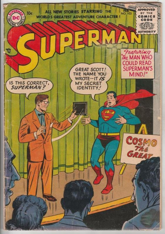 Superman #103 (Feb-56) VG Affordable-Grade Superman