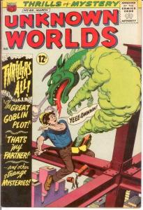 UNKNOWN WORLDS (1960-1967 ACG) 46 FINE Mar. 1966 COMICS BOOK