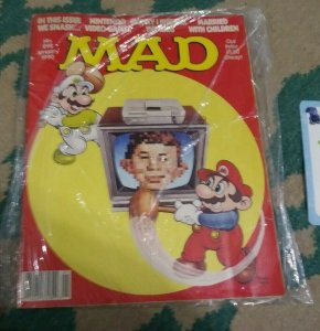 MAD MAGAZINE # 292 1990  ISSUE ALFRED E NEWMAN MARIO SMASH VIDEO GAMES