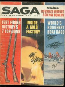 SAGA MAGAZINE JUNE 1962-7 TOP GUNS-SCIENCE BONERS-WAR G
