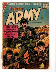Lot Of 3 Fightin' Army Charlton Comic Books # 21 VG- 35 VG- 37 VG- 1957 J305