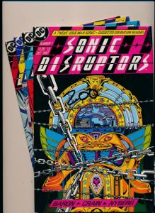 DC Comics SET of 4-SONICS DISRUPTORS #1-#4 VERY FINE  (HX923)