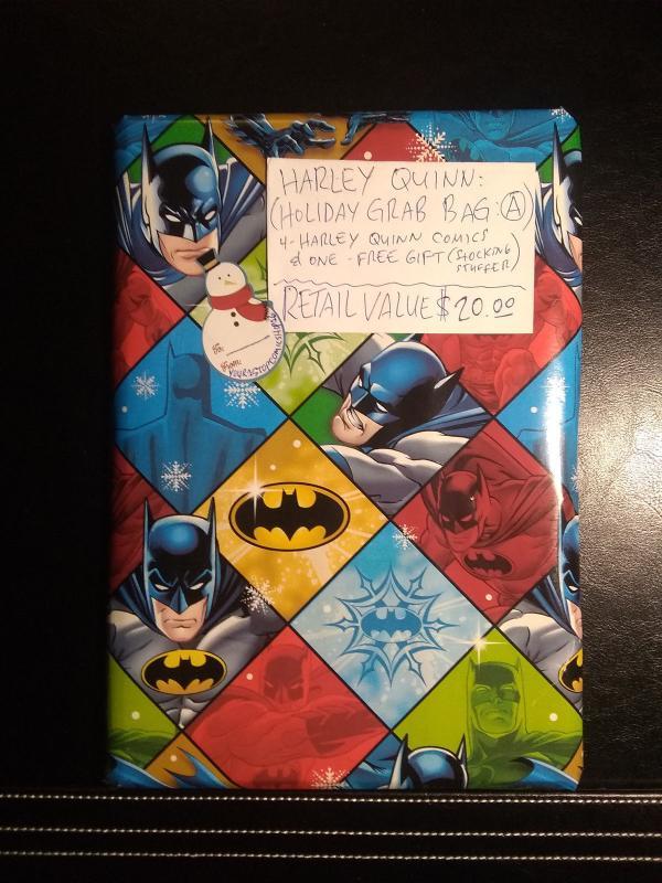 harley quinn holiday grab bag 4 harley quinn comics 1 free gift