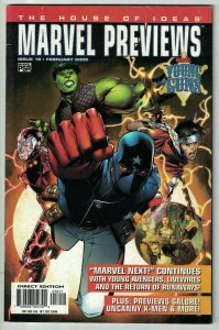 Marvel Previews #16 young avengers #1 - livewires #1 - uncanny x-men #455 - 2005