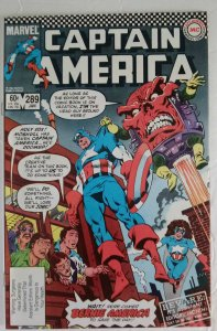 CAPTAIN AMERICA #289 Marvel Comics ID#MBX2