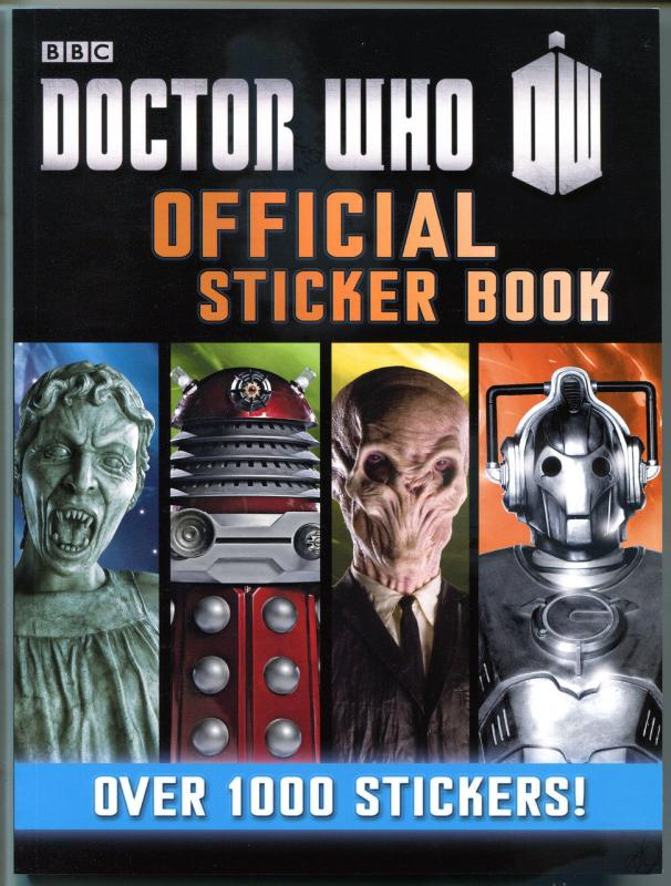 DOCTOR WHO Official Sticker Book, NM, 1000 +Stickers, BBC, Daleks, Cybermen,2013